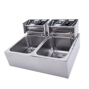 It Is Recommended That Commercial Oil-Water Separation Electric Fryer Gas Fryer Electric Frying Pan Single Cylinder Commercial Large Capacity Deep Fryer